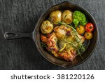 rosemary herb firing of the...   Shutterstock . vector #381220126