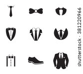 suit icons | Shutterstock .eps vector #381220966