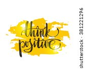 think positive. hand drawn... | Shutterstock .eps vector #381221296