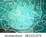 abstract geometric mosaic... | Shutterstock .eps vector #381221374