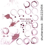 wine glass or cup stains... | Shutterstock .eps vector #381222454