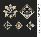 asian ornaments. vector arabic... | Shutterstock .eps vector #381224818