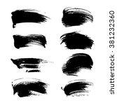 set of black strokes  part three | Shutterstock .eps vector #381232360