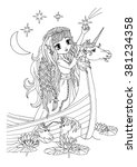 Coloring Page The Lady On The...