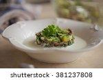 russian soup okroshka with... | Shutterstock . vector #381237808