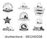 set of figure skating logos ... | Shutterstock .eps vector #381240208