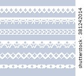 set of seamless paper laces for ... | Shutterstock .eps vector #381242014