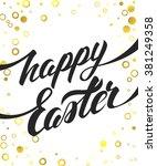 happy easter vector hand... | Shutterstock .eps vector #381249358