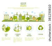 ecology city infographic vector ... | Shutterstock .eps vector #381250810