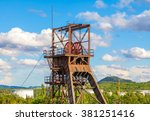 mine tower and cloudy sky | Shutterstock . vector #381251416