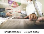 businessman making presentation ... | Shutterstock . vector #381255859