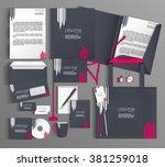 corporate identity template... | Shutterstock .eps vector #381259018