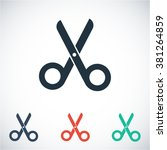 scissors  vector icon | Shutterstock .eps vector #381264859