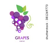 grapes icon. grapes wine or... | Shutterstock . vector #381269773
