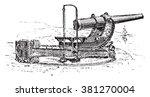 canon aside  vintage engraved... | Shutterstock .eps vector #381270004