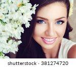 portrait of beautiful young... | Shutterstock . vector #381274720