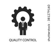 quality control icon | Shutterstock .eps vector #381279160