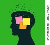 concept of memory loss. head... | Shutterstock .eps vector #381279304