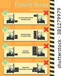forklift safety rules. easy to... | Shutterstock .eps vector #381279979
