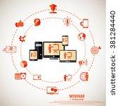 e  learning   webinar concept... | Shutterstock .eps vector #381284440