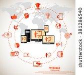 e  learning   webinar concept...   Shutterstock .eps vector #381286540