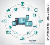 e  learning   webinar concept...   Shutterstock .eps vector #381288070