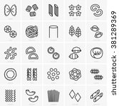 pasta set | Shutterstock .eps vector #381289369