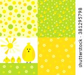 Set Of Kid Seamless Patterns...