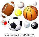 sport balls. vector. | Shutterstock .eps vector #38130076