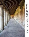 pompeii  naples  italy.... | Shutterstock . vector #381312370