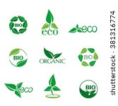 eco and bio logos for eco... | Shutterstock .eps vector #381316774