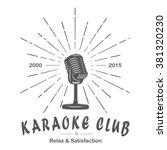 karaoke club microphone retro... | Shutterstock .eps vector #381320230
