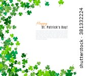st patrick's day background.... | Shutterstock .eps vector #381332224