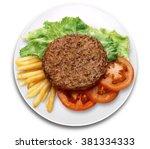 hamburguer burguer meat lettuce ... | Shutterstock . vector #381334333