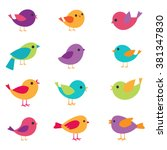 vector set of colorful and...
