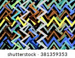 abstract decorative texture... | Shutterstock . vector #381359353