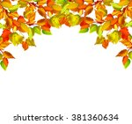 autumn leaves isolated on white ... | Shutterstock . vector #381360634
