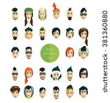 avatar icons faces | Shutterstock .eps vector #381360880