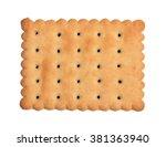 cracker isolated on white... | Shutterstock . vector #381363940