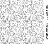 floral seamless pattern with... | Shutterstock . vector #381365488