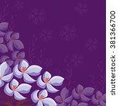 invitation or wedding card... | Shutterstock .eps vector #381366700