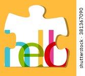 alphabet puzzle   Shutterstock .eps vector #381367090