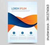 flyer  brochure  poster  annual ... | Shutterstock .eps vector #381376063