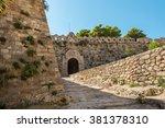 fortezza castle in rethymno ... | Shutterstock . vector #381378310