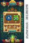 jungle shamans gui mission... | Shutterstock .eps vector #381380398