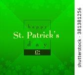 happy saint patrick's day... | Shutterstock .eps vector #381381256