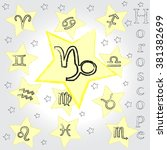 capricorn . horoscope . zodiac . | Shutterstock .eps vector #381382699