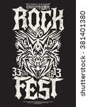 hardcore rock fest poster... | Shutterstock .eps vector #381401380