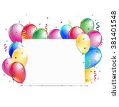 white paper banner with... | Shutterstock .eps vector #381401548