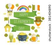 st. patrick's day vector... | Shutterstock .eps vector #381404890